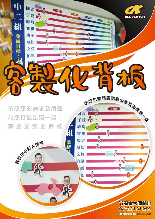 台中海報背板